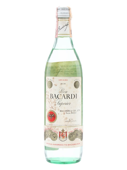 Bacardi Superior Rum (Mexico) / Bot.1980s Single Modernist Rum