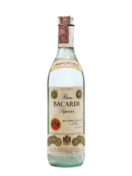 Bacardi Superior Rum (Spain) / Bot.1970s