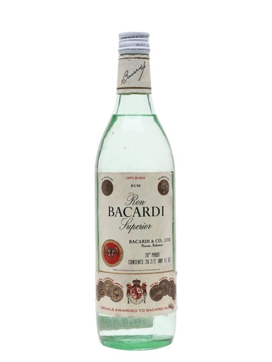 Bacardi Superior Rum (Nassau) / Bot.1970s