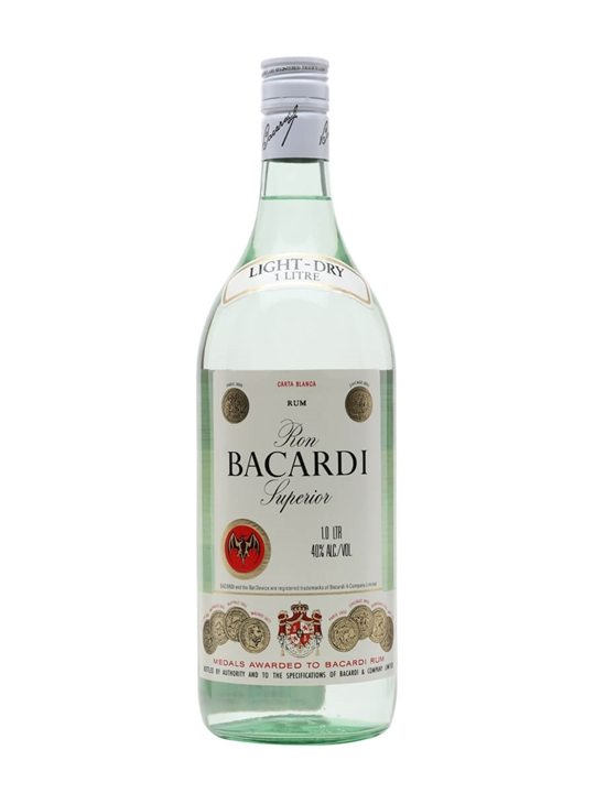 Bacardi Superior Rum / Bot.1980s / Litre