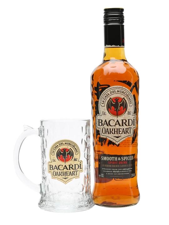 Bacardi Oakheart Spiced Rum / Glass Pack