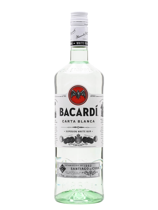 Bacardi Superior / Carta Blanca Rum / Litre Single Modernist Rum