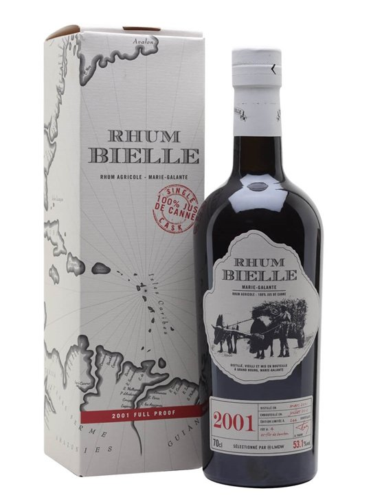 Bielle 2001 Rum / Single Cask 4 Single Traditional Column Rum