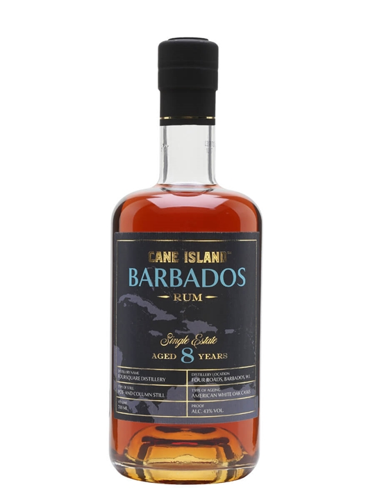 Cane Island Single Estate Barbados 8 Year Old Rum