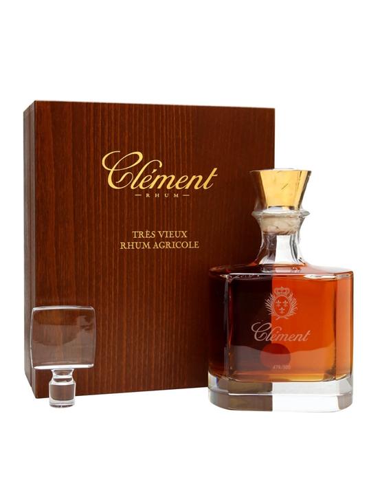 Clement Rhum Vieux Cristal Decanter Single Traditional Column Rum