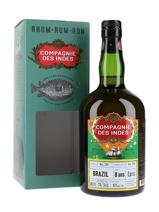 Brazil Epris 8 Year Old Rum / Compagnie des Indes (45%)
