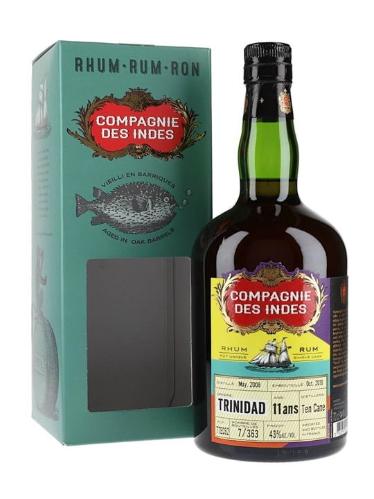 Ten Cane Distillery 11 Year Old Rum / Compagnie des Indes