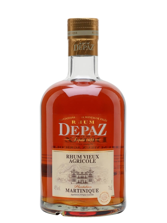 Rhum Depaz Vieux Plantation Single Traditional Column Rum
