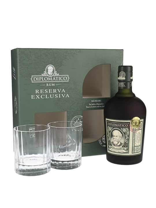 Diplomatico Reserva Exclusiva Rum Old Fashioned Glass Set