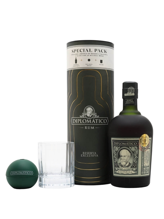 Diplomatico Reserva Exclusiva Rum / Old Fashioned Canister Gift Set