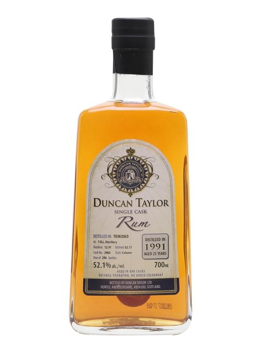 Trinidad Distillers 1991 Rum / 25 Year Old / Duncan Taylor