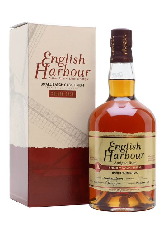English Harbour Sherry Cask Finish Rum Single Traditional Column Rum
