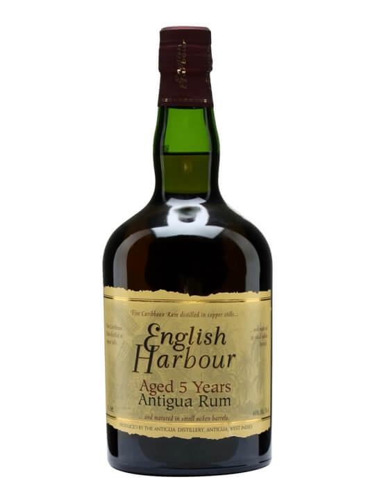 English Harbour 5 Year Old Rum Single Traditional Column Rum
