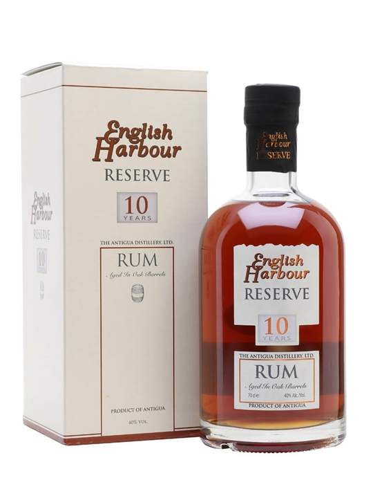 English Harbour Reserve 10 Year Old Rum Single Traditional Column Rum