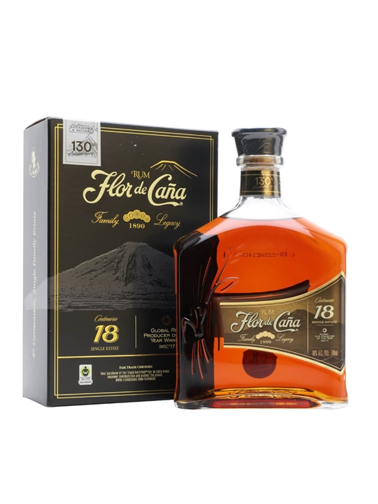 Flor de Cana 18 Year Old Rum Single Modernist Rum