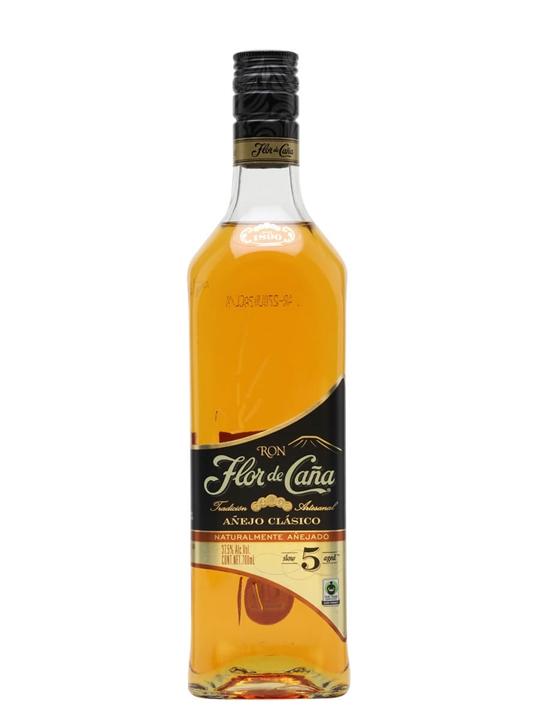 Flor de Cana 5 Year Old Black Label Rum Single Modernist Rum