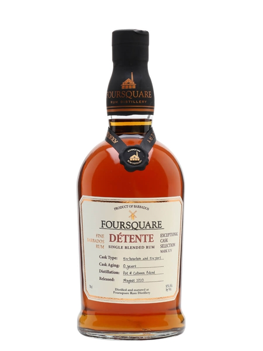 Foursquare Detente 10 Year Old Single Traditional Blended Rum