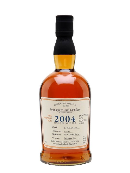 Foursquare 2004 Cask Strength Rum / 11 Year Old