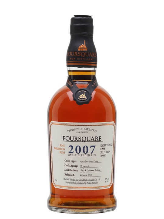 Foursquare 2007 Cask Strength Rum Single Traditional Blended Rum