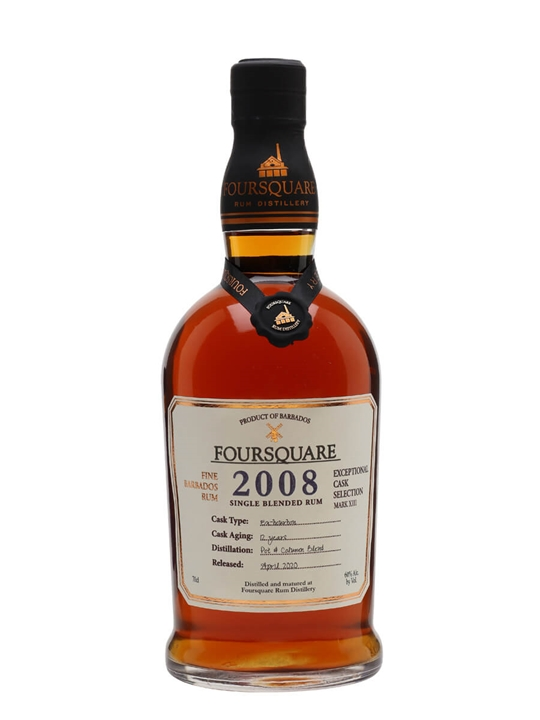 Foursquare 2008 Cask Strength Single Traditional Blended Rum