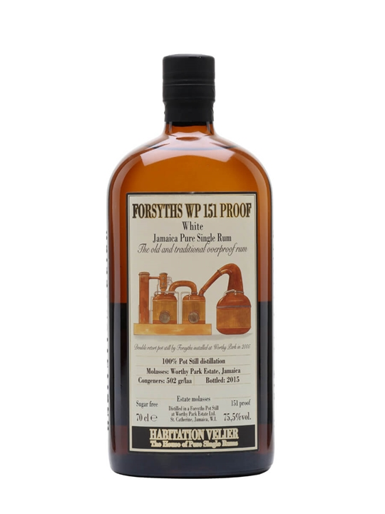 Forsyths WP 151 Proof Rum / 2015 Release / Habitation Velier