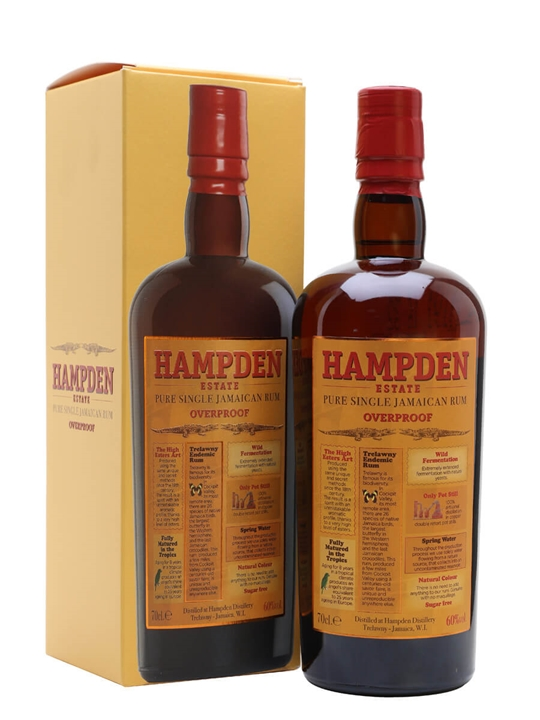 Hampden Estate Overproof Rum Single Traditional Pot Rum