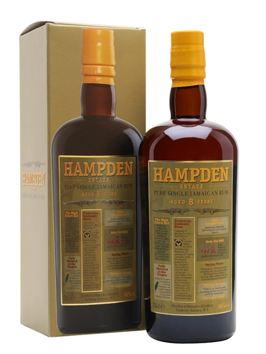 Hampden Estate 8 Year Old Rum Single Traditional Pot Rum