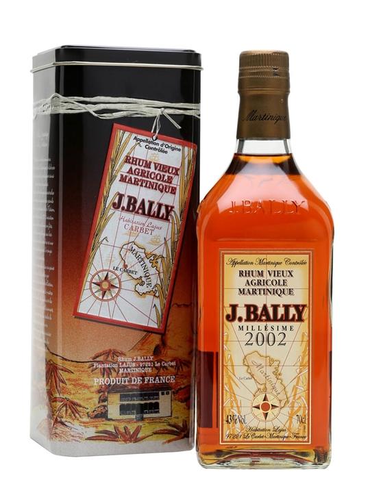 J Bally 2002 Millesime Agricole Rhum Single Traditional Column Rum