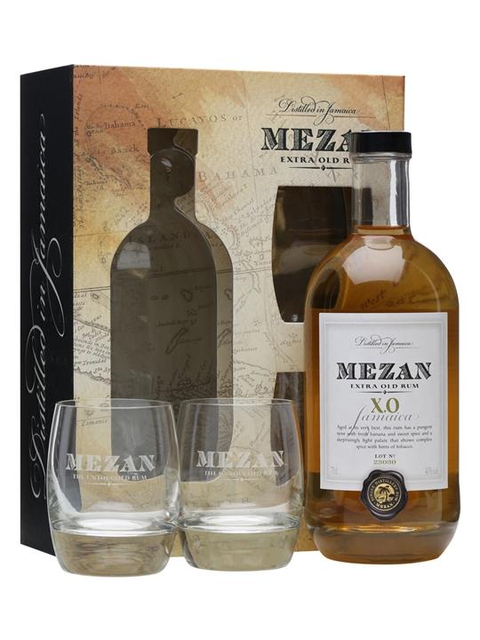 Mezan XO Jamaican Rum / 2 Glasses Gift Pack