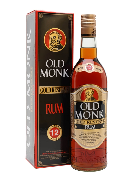 Old Monk Gold Reserve 12 Year Old Single Modernist Rum