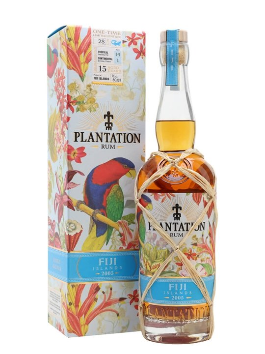 Plantation Fiji 2005 / 15 Year Old Single Traditional Column Still Rum