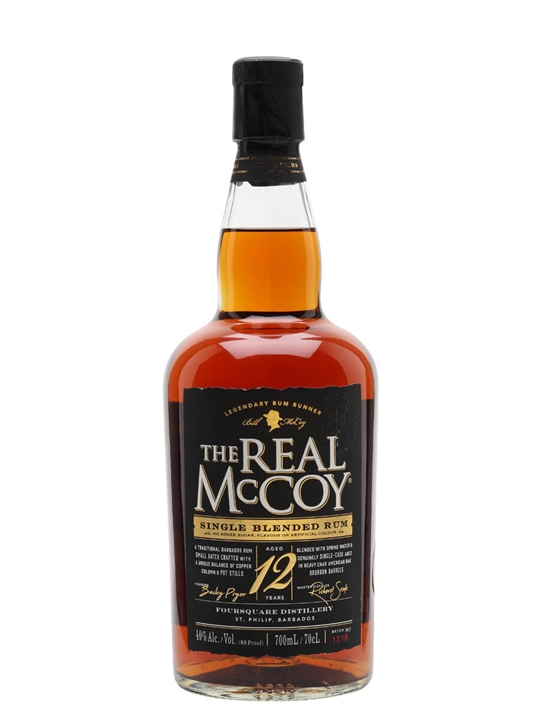 The Real McCoy 12 Year Old Rum Single Traditional Blended Rum
