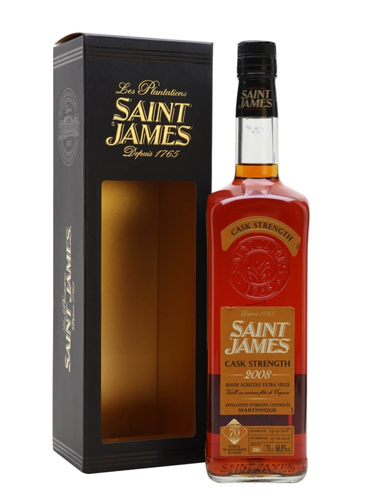 Saint James 2008 Brut De Fut Rum / Velier 70th