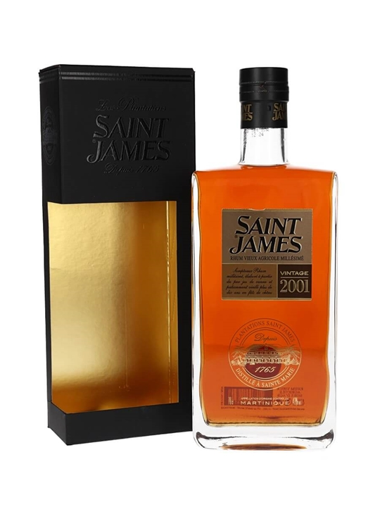 Saint James 2001 Vintage Rum Single Traditional Column Rum