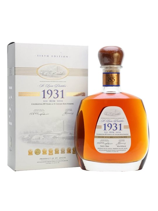 St Lucia 1931 Rum / Sixth Edition Single Traditional Blended Rum