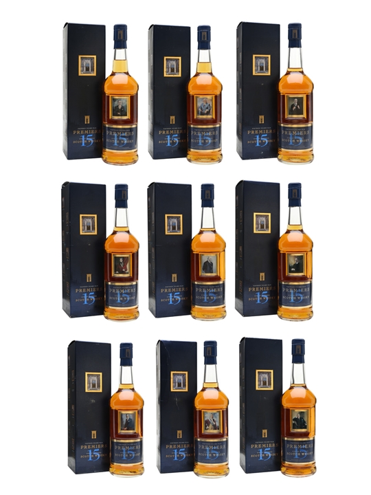 Premiers 15 Year Old Set Of 9 Blended Scotch Whisky