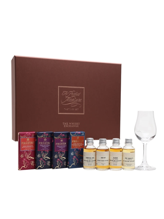 Whisky and Chocolate Pairing Gift Set / 4x3cl