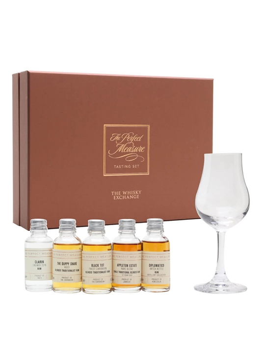 Rum And Popcorn Pairing Tasting Set /  5x3cl Plus 5 Bags of Popcorn
