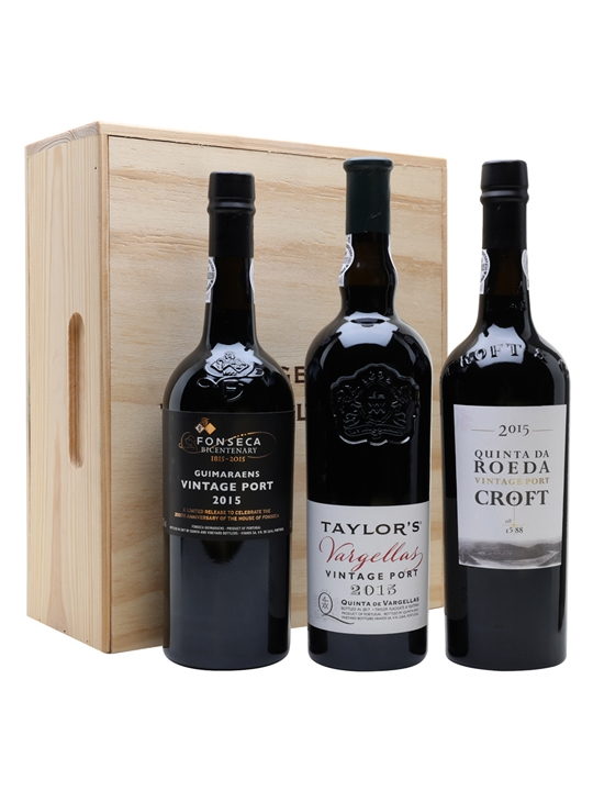 2015 Vintage Port Collection Trio Pack / Fonseca, Taylor's & Croft