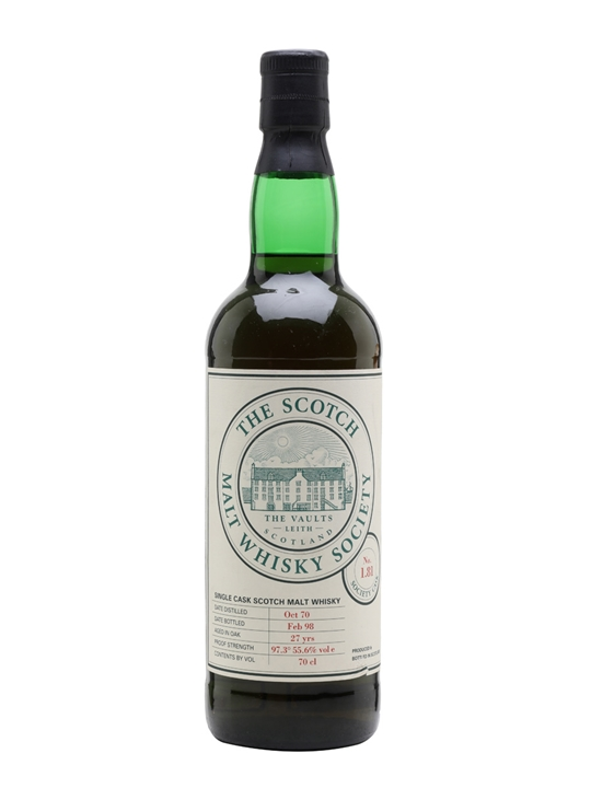 SMWS 1.81 (Glenfarclas) / 1970 / 27 Year Old / Sherry Cask Speyside Whisky
