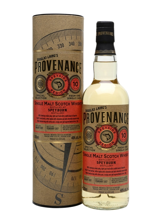 Speyburn 2007 / 10 Year Old / Cask 11641 / Provenance Speyside Whisky