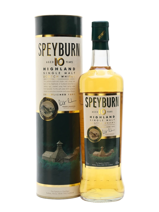 Speyburn 10 Year Old / Old Presentation Speyside Whisky