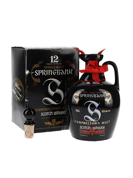 Springbank 12 Year Old / Bot.1990s / Ceramic Decanter Campbeltown Whisky