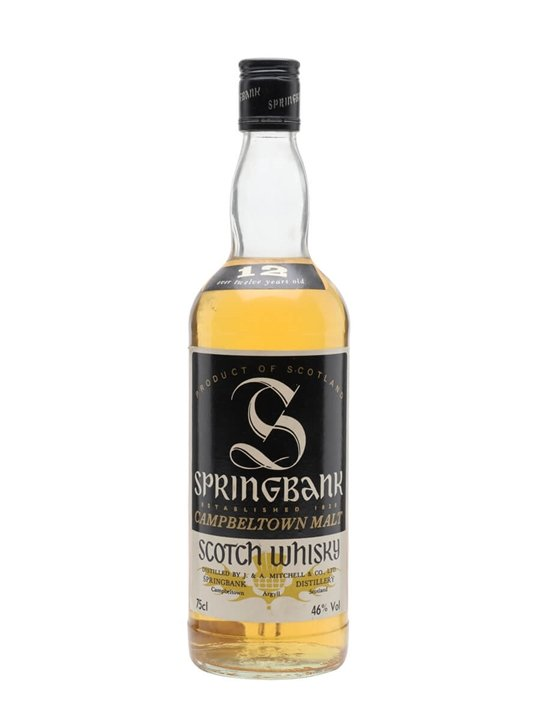 Springbank 12 Year Old / Bot.1980s Campbeltown Whisky