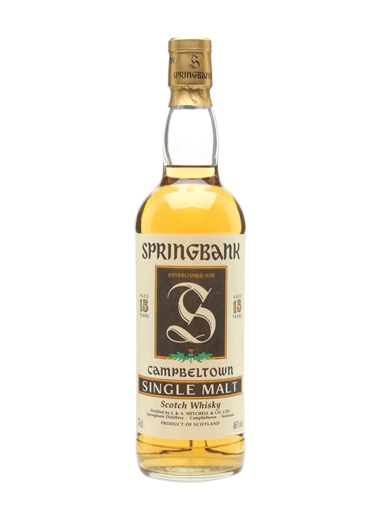 Springbank 15 Year Old  Bot.1990s Campbeltown Whisky