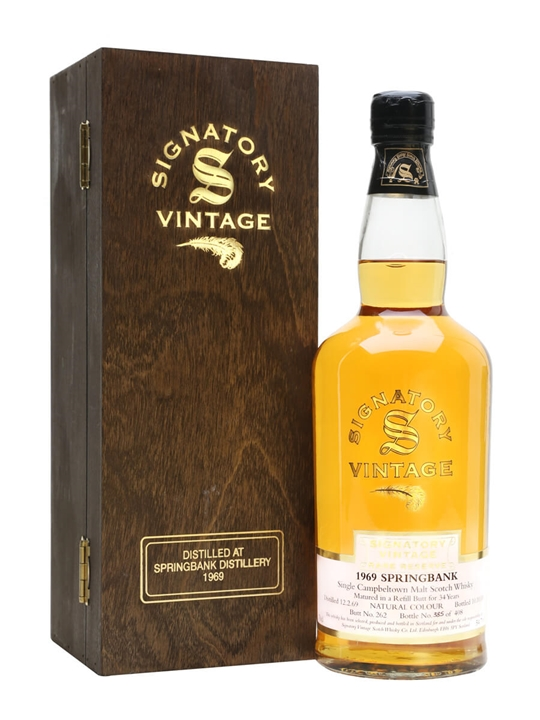 Springbank 1969 / 34 Year Old / Cask #262 / Signatory Campbeltown Whisky