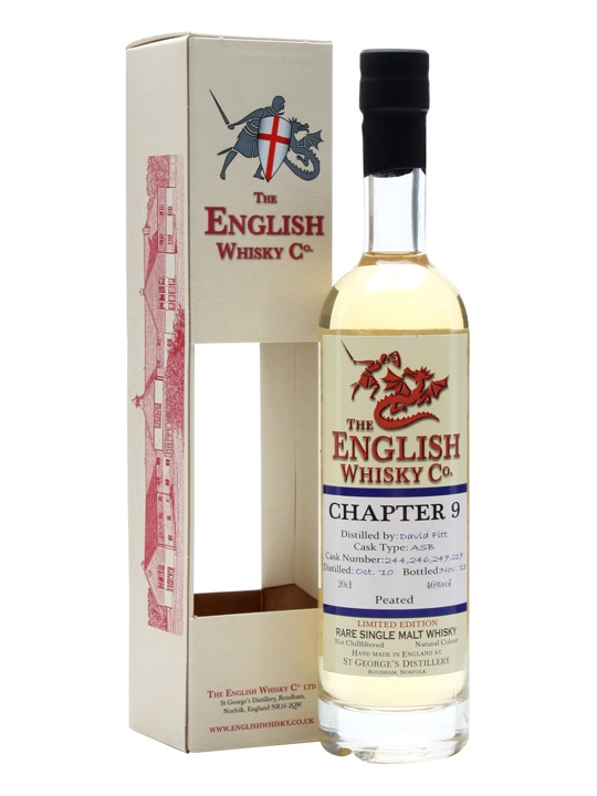 English Whisky Co. Chapter 9  Peated English Single Malt Whisky