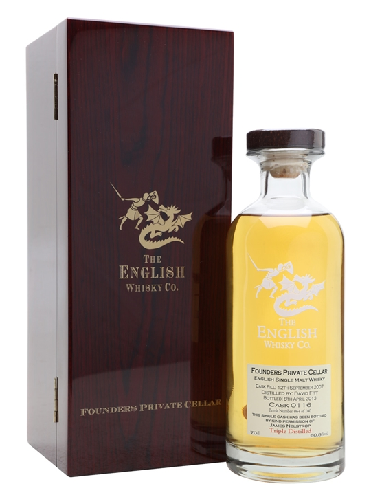 English Whisky Co. Founders 2007 / Triple Distilled English Whisky