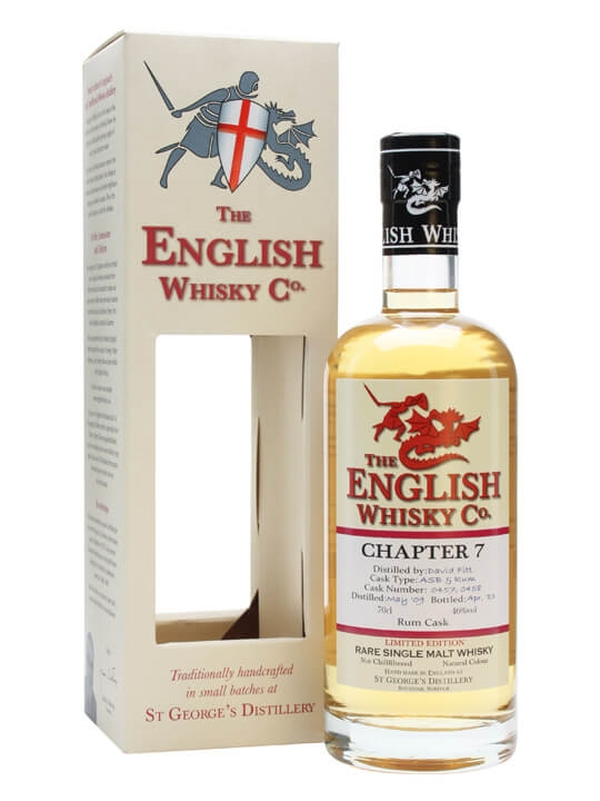 English Whisky Co. Chapter 7  Rum Finish English Single Malt Whisky