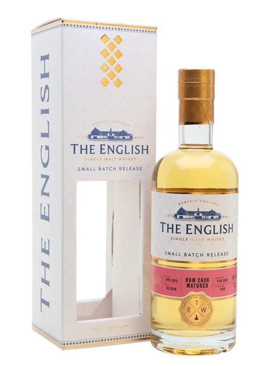 The English Small Batch Rum Cask Matured Whisky English Whisky